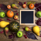 Square frame mockup with pumpkins, pears - PhotoDune Item for Sale