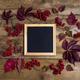 Square frame rustic mockup with viburnum berries - PhotoDune Item for Sale