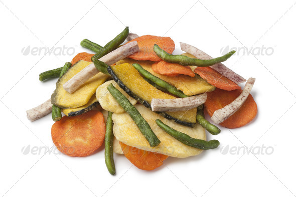 Fried vegetable chips - Stock Photo - Images