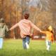 Happy family on autumn walk - PhotoDune Item for Sale