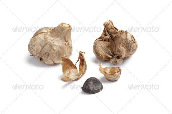 Black garlic - Stock Photo - Images