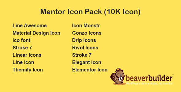 Download Mentor Icon Pack for Beaver Page Builder Free Nulled