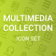 Multimedia Collection icon Set