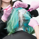 Close-up view of process of hair dye in professional beauty salon - PhotoDune Item for Sale