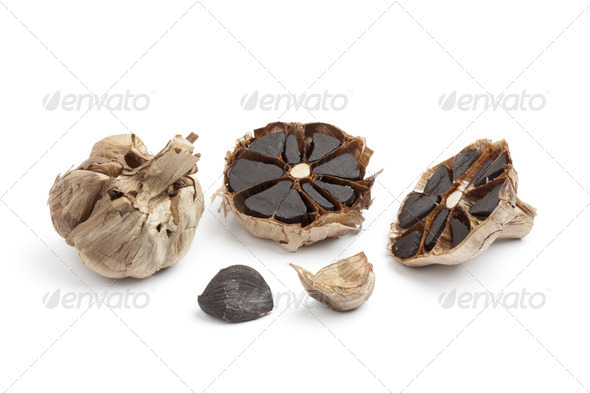 Black garlic - Stock Photo - Images