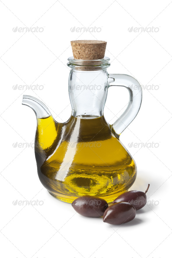 Bottle with olive oil - Stock Photo - Images