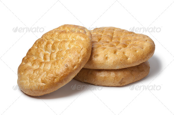 Three whole Turkish bread - Stock Photo - Images
