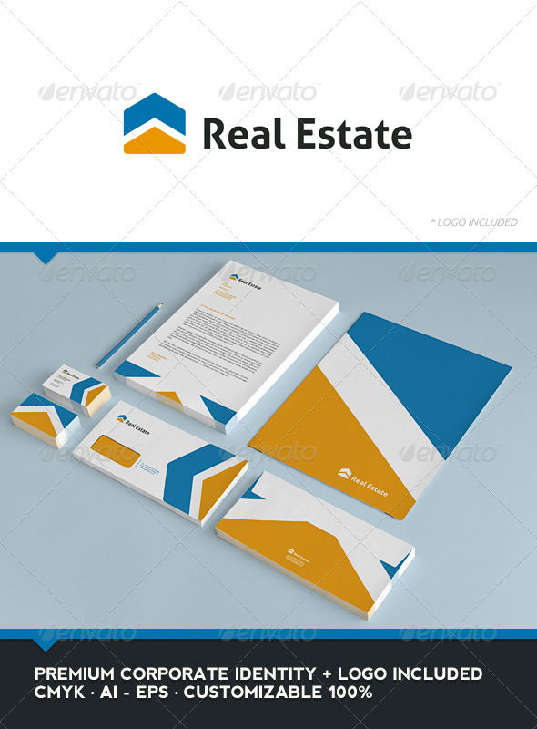 Real Estate Corporate Identity - Stationery Print Templates