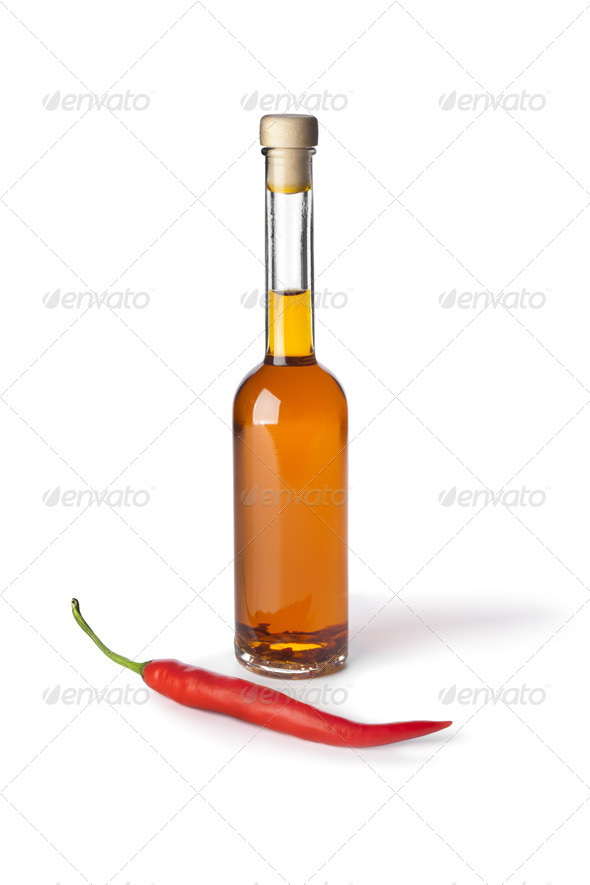 Chili  pepper oil - Stock Photo - Images