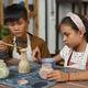 Kids Painting Clay Vase - PhotoDune Item for Sale