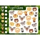 Kids I Spy Game with Cartoon Animals Characters