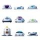 Vacuum Cleaner Robots VCR Droids Set Robotic Bot