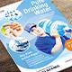 Water Drink Service Flyer