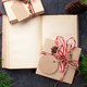Christmas gift box with craft decor and vintage book - PhotoDune Item for Sale
