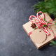Christmas gift box with craft decor - PhotoDune Item for Sale
