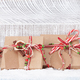 Christmas gift boxes with craft decor - PhotoDune Item for Sale