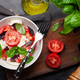Caprese salad with fresh tomatoes, basil and mozzarella cheese - PhotoDune Item for Sale