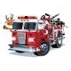 Cartoon Christmas Firetruck