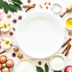 Autumn Baking ingredients at white wooden table - PhotoDune Item for Sale