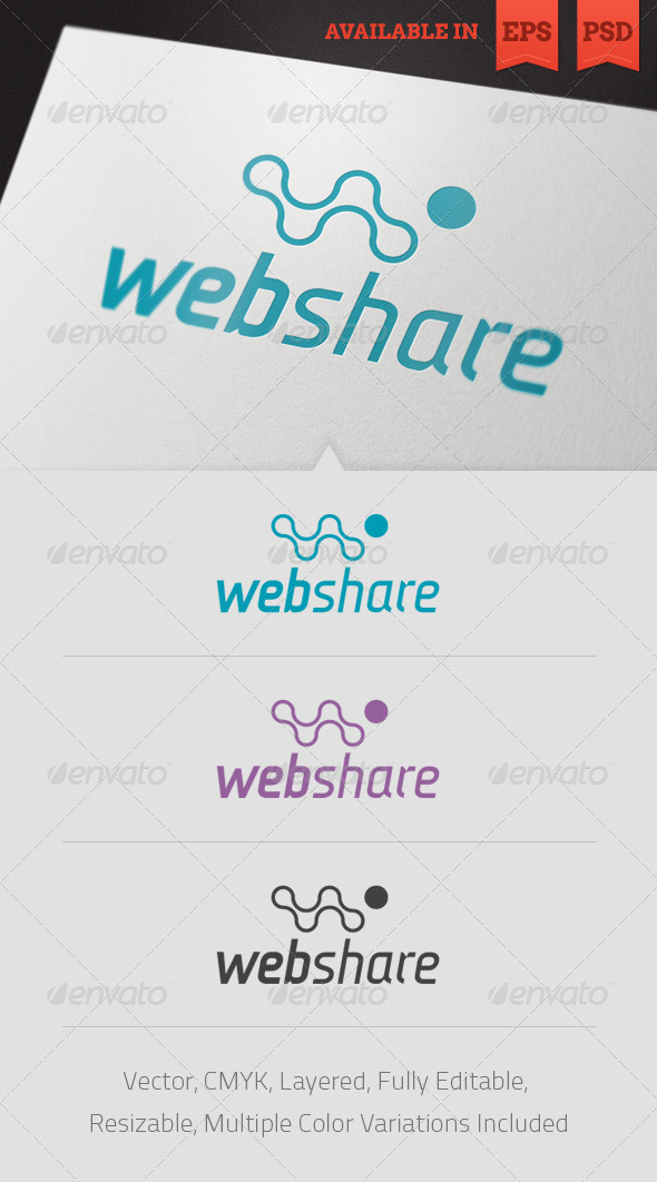 Web Sharing Logo Template - Letters Logo Templates