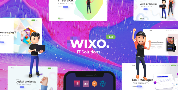Download Wixo – Technology & IT Solutions WordPress Theme Free Nulled