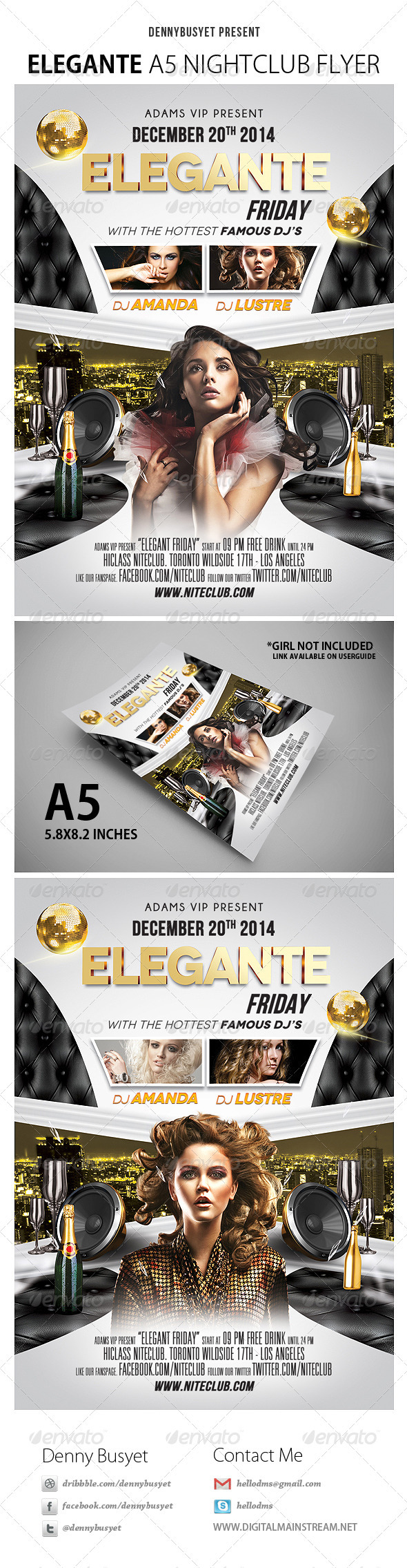 Elegante Nightclub Flyer - Events Flyers