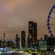 Chicago city high rise buildings illuminated and Centennial Wheel at Navy Pier. Illinois USA - PhotoDune Item for Sale