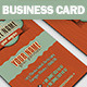 Coffee Business Card - GraphicRiver Item for Sale