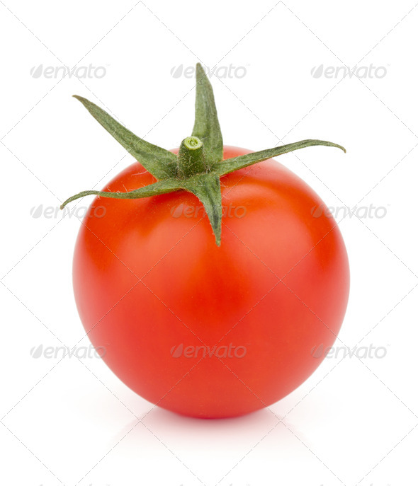 Small ripe tomato - Stock Photo - Images