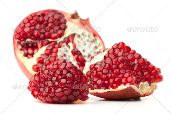 Red pomegranate fruit - Stock Photo - Images