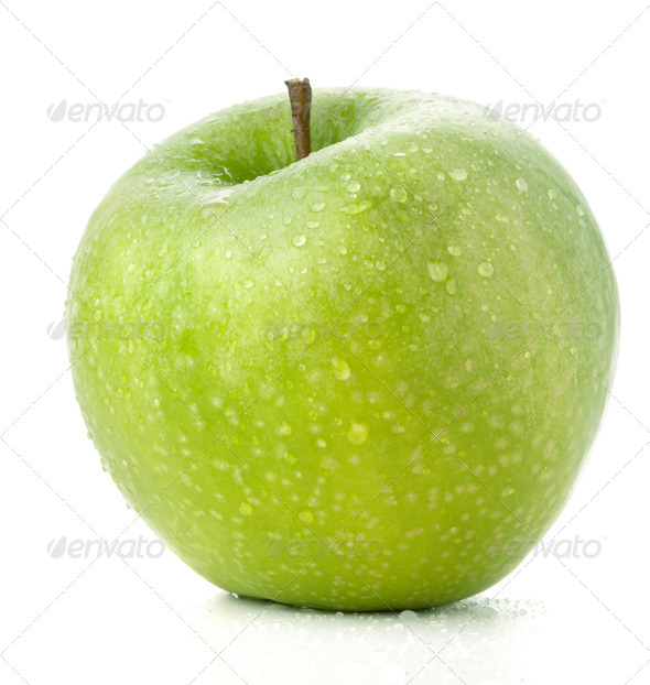 A ripe green apple - Stock Photo - Images