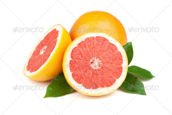 Fresh juicy grapefruits - Stock Photo - Images