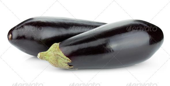 Two eggplants - Stock Photo - Images