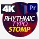 Rhythmic Typo Stomp Intro - VideoHive Item for Sale