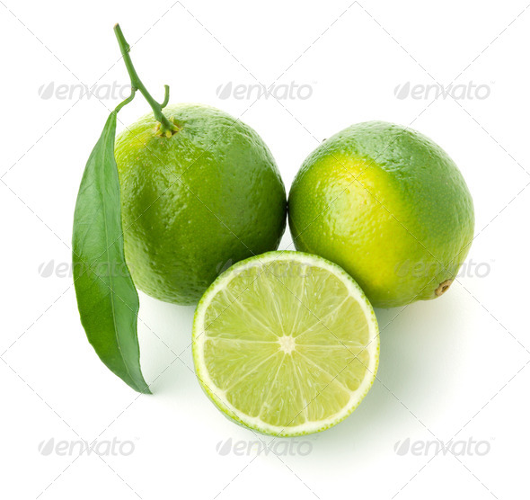 Three ripe limes - Stock Photo - Images