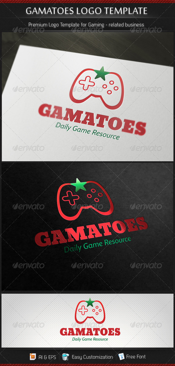 Gamatoes Game Studio Gamer Resource Logo Template - Objects Logo Templates