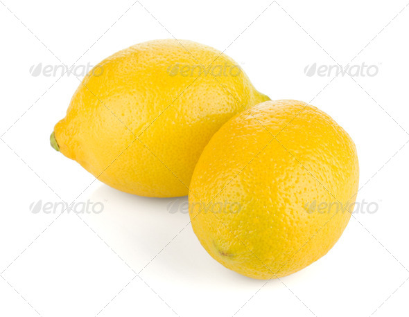 Two ripe lemons - Stock Photo - Images