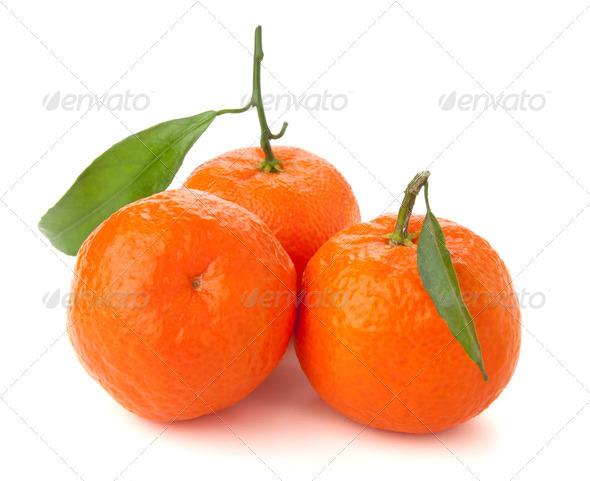 Three ripe tangerines - Stock Photo - Images