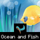 Deep Ocean and Fish Illustrated Background - GraphicRiver Item for Sale