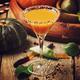 Halloween orange cocktail on a dark festive autumn background, selective focus and shallow DOF - PhotoDune Item for Sale