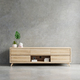 Cabinet for tv in living room interior wall mockup on concrete wall. - PhotoDune Item for Sale