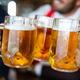 Group of friends toasting with glasses of light beer at the pub - PhotoDune Item for Sale