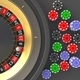 Casino roulette, golden spinning wheel, colorful chips. Gambling and betting. 3d illustration - PhotoDune Item for Sale