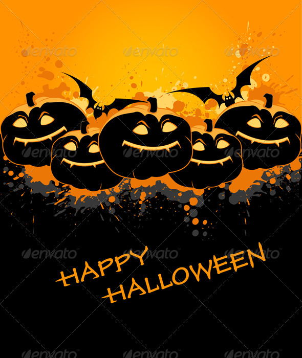 Halloween Background with Pumpkin - Halloween Seasons/Holidays
