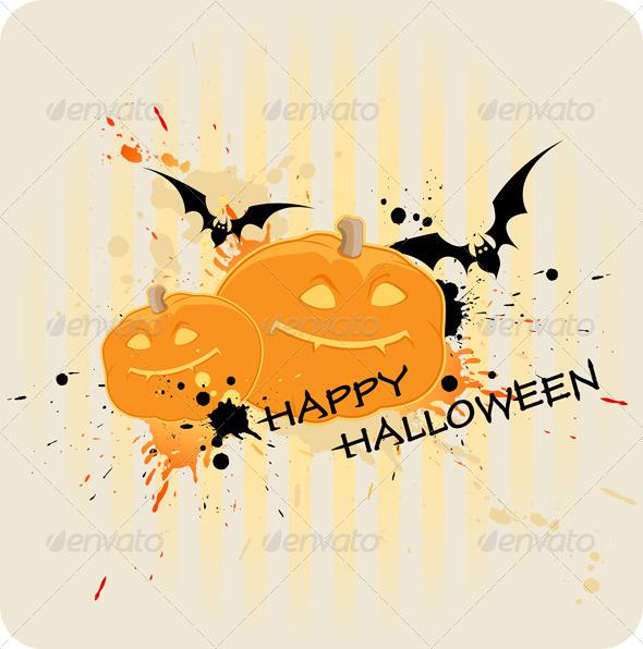 Striped Halloween Background  - Halloween Seasons/Holidays