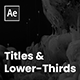 Titles and Lower Thirds - VideoHive Item for Sale