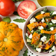 Concept of cooking pumpkin salad on white background - PhotoDune Item for Sale