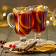 Red mulled wine. Selective focus, blurred background, bokeh, horizontal - PhotoDune Item for Sale