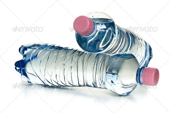 plastic water bottles - Stock Photo - Images
