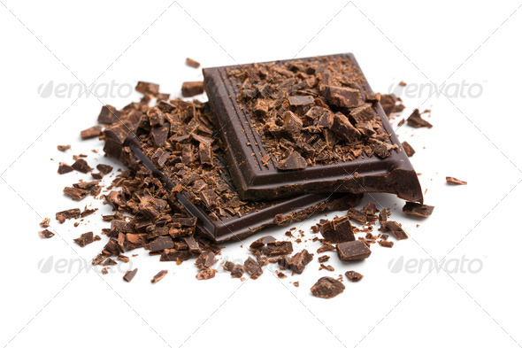 chocolate pieces - Stock Photo - Images